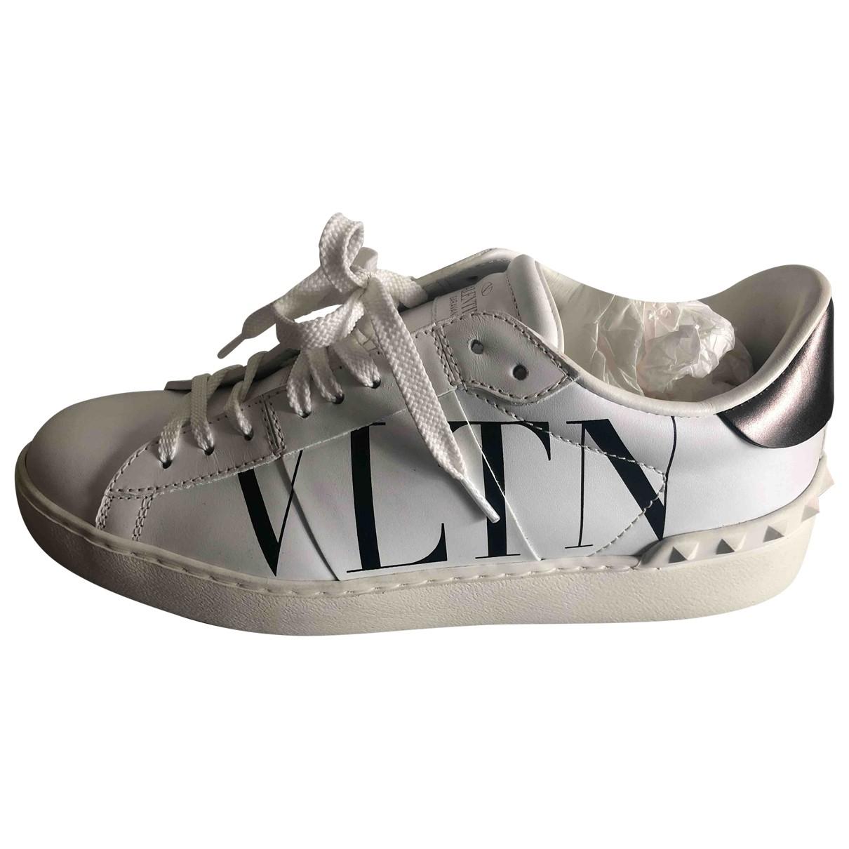 Valentino Garavani Rockstud White Leather Trainers for Women 5 UK