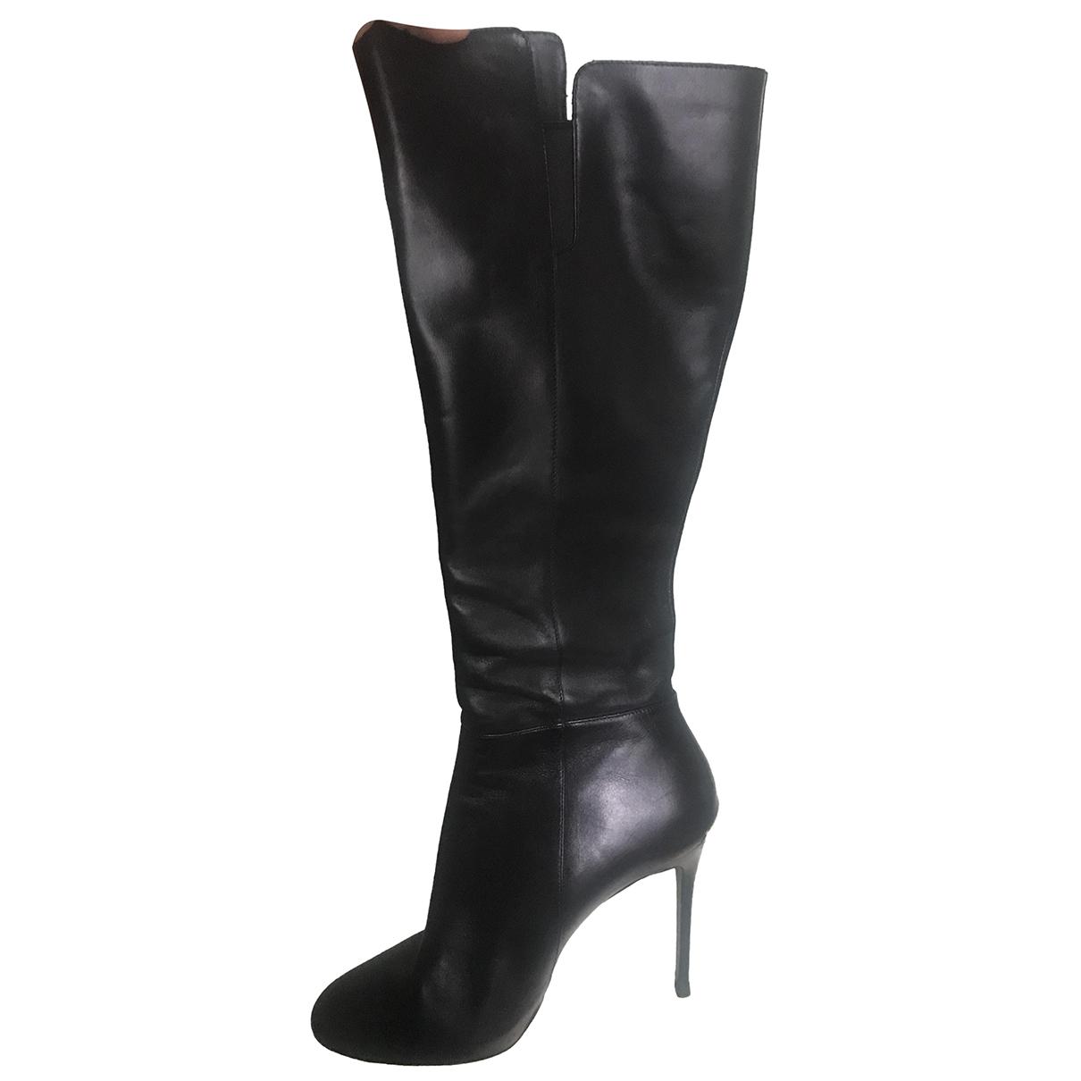 Michael Kors - Bottes   pour femme en cuir - noir
