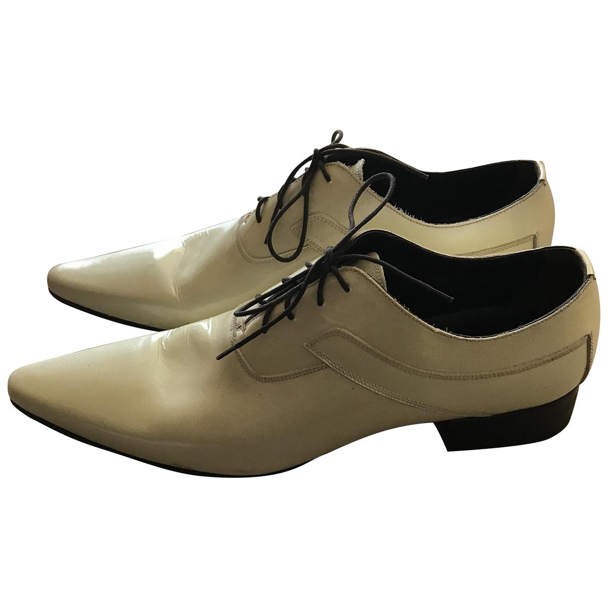 Dolce & Gabbana \N Ecru Patent leather Flats for Men 9.5 US