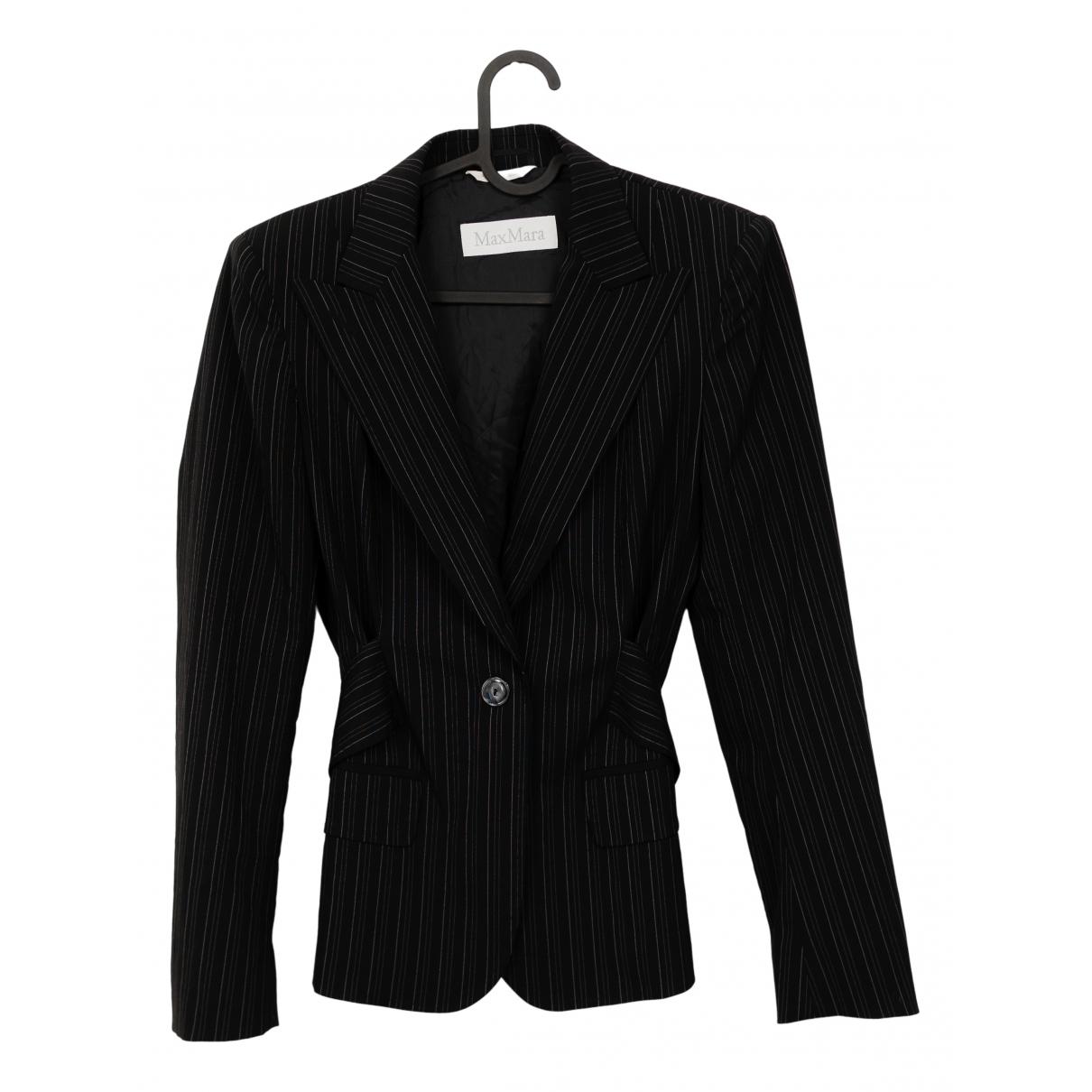 Max Mara \N Black Wool jacket for Women 36 IT