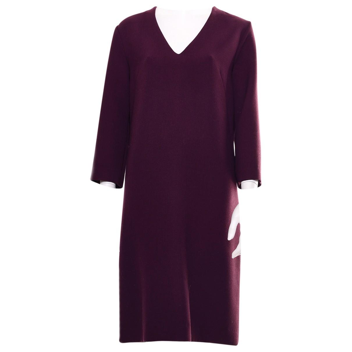 Marni - Robe   pour femme en laine - bordeaux