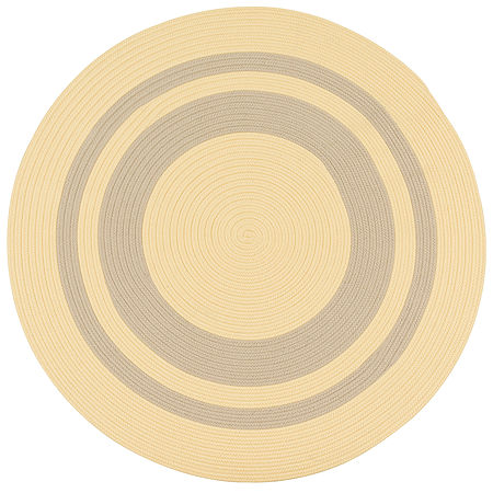 Colonial Mills Oceanside Braided Round Reversible Indoor/Outdoor Rugs, One Size , Yellow