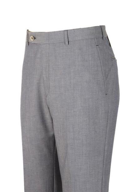 American USA Made Gray Super 110's Wool Harwick Clothing Dress Pants