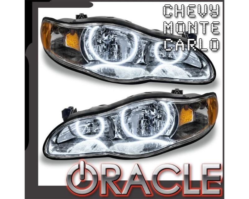 Oracle Lighting 8198-504 Pre-Assembled Headlights LED Halo Kit ColorSHIFT - Simple Chevrolet Monte Carlo 2000-2005