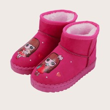 Toddler Girls Figure Graphic Ankle Boots