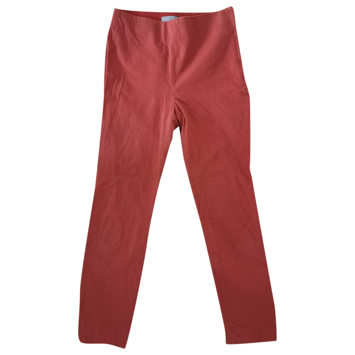Cos \N Red Cotton Trousers for Women 36 FR