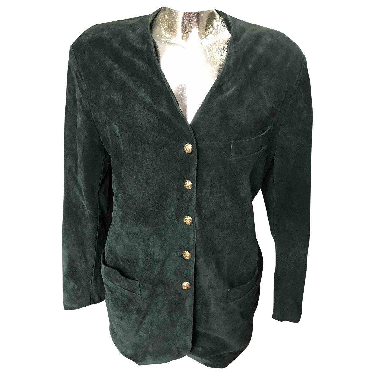 Georges Rech - Veste   pour femme en cuir - vert