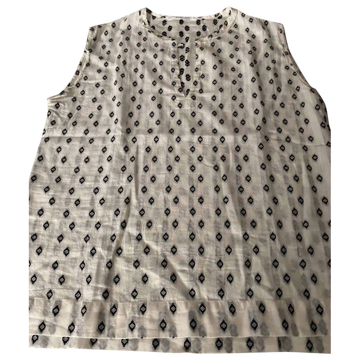 Pomandere - Top   pour femme en coton - blanc