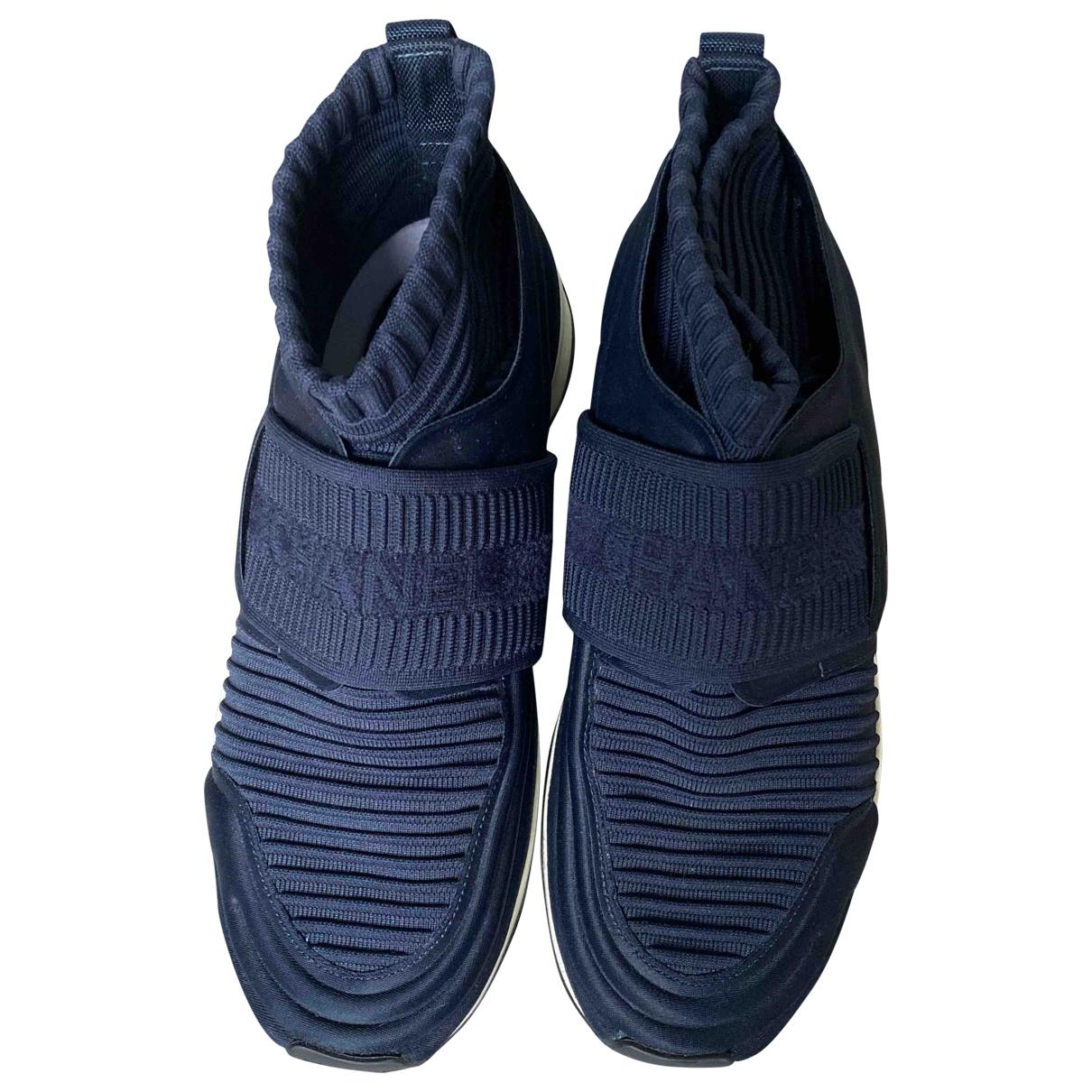 Chanel \N Blue Cloth Trainers for Women 37 EU