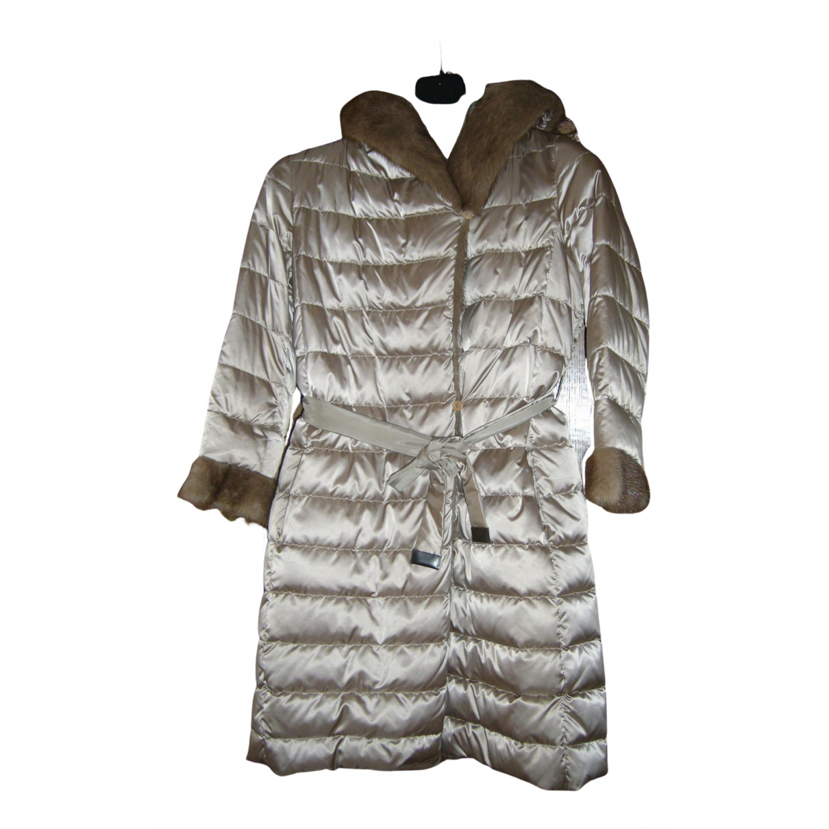 Max Mara 's N Gold Mink coat for Women 38 FR