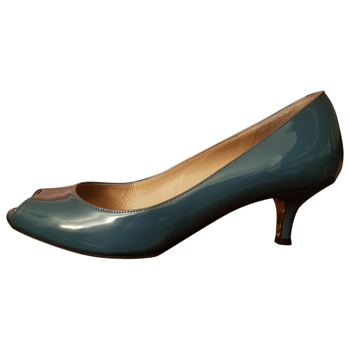Dolce & Gabbana - Escarpins   pour femme en cuir verni - turquoise