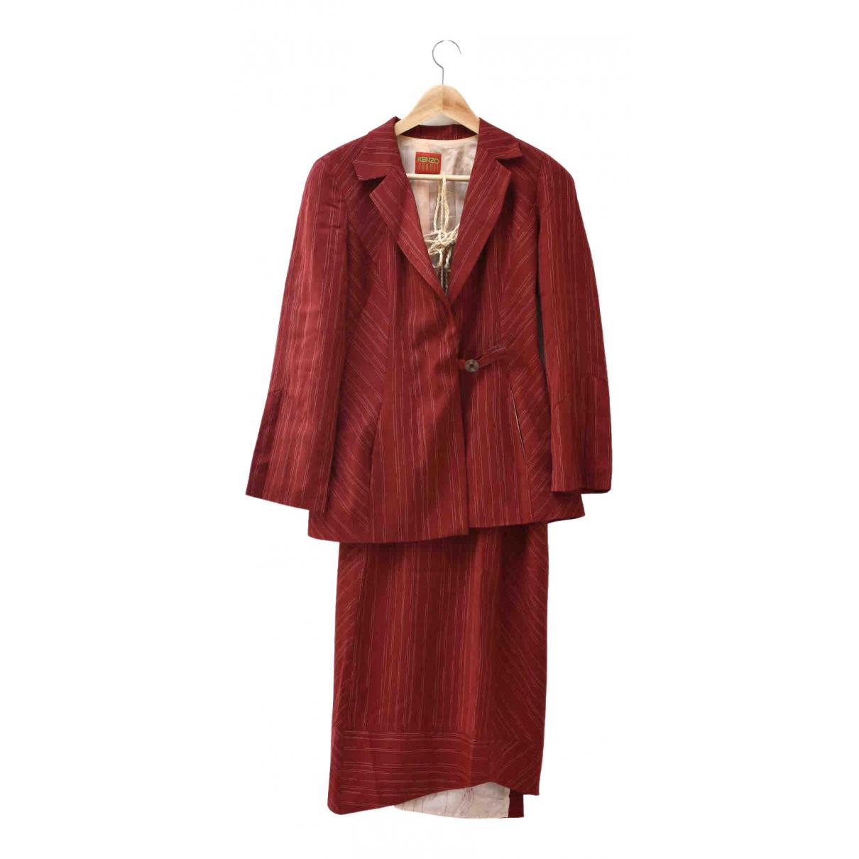 Kenzo - Veste   pour femme en laine - rouge