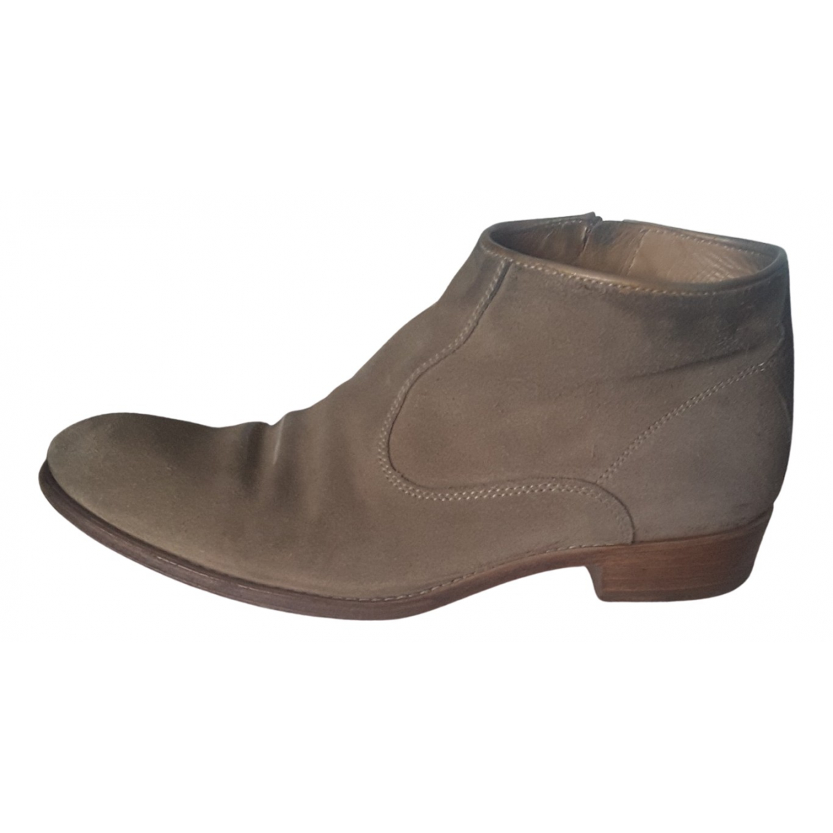 N.d.c. Made By Hand - Boots   pour femme en suede - beige