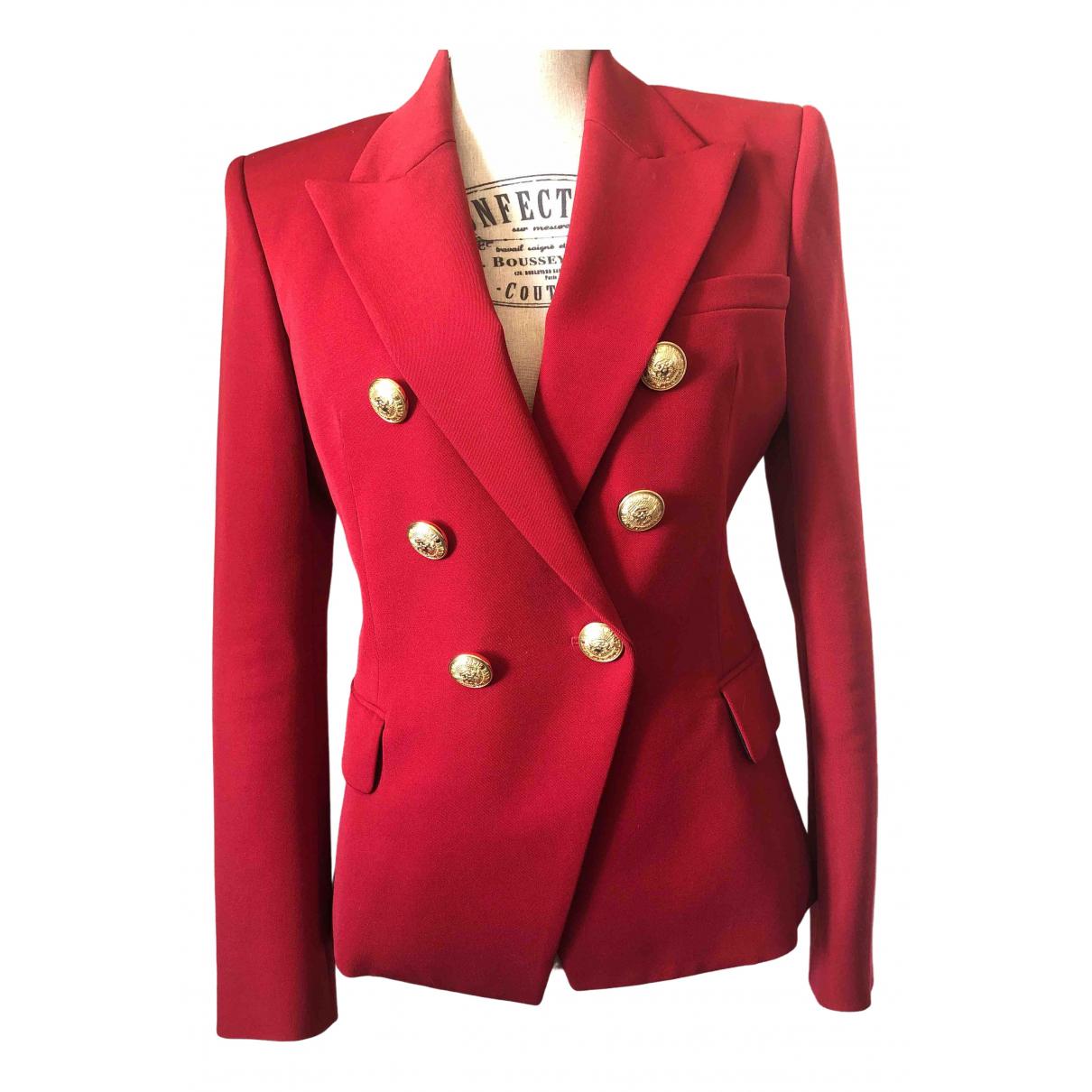 Balmain \N Red Wool jacket for Women 40 FR