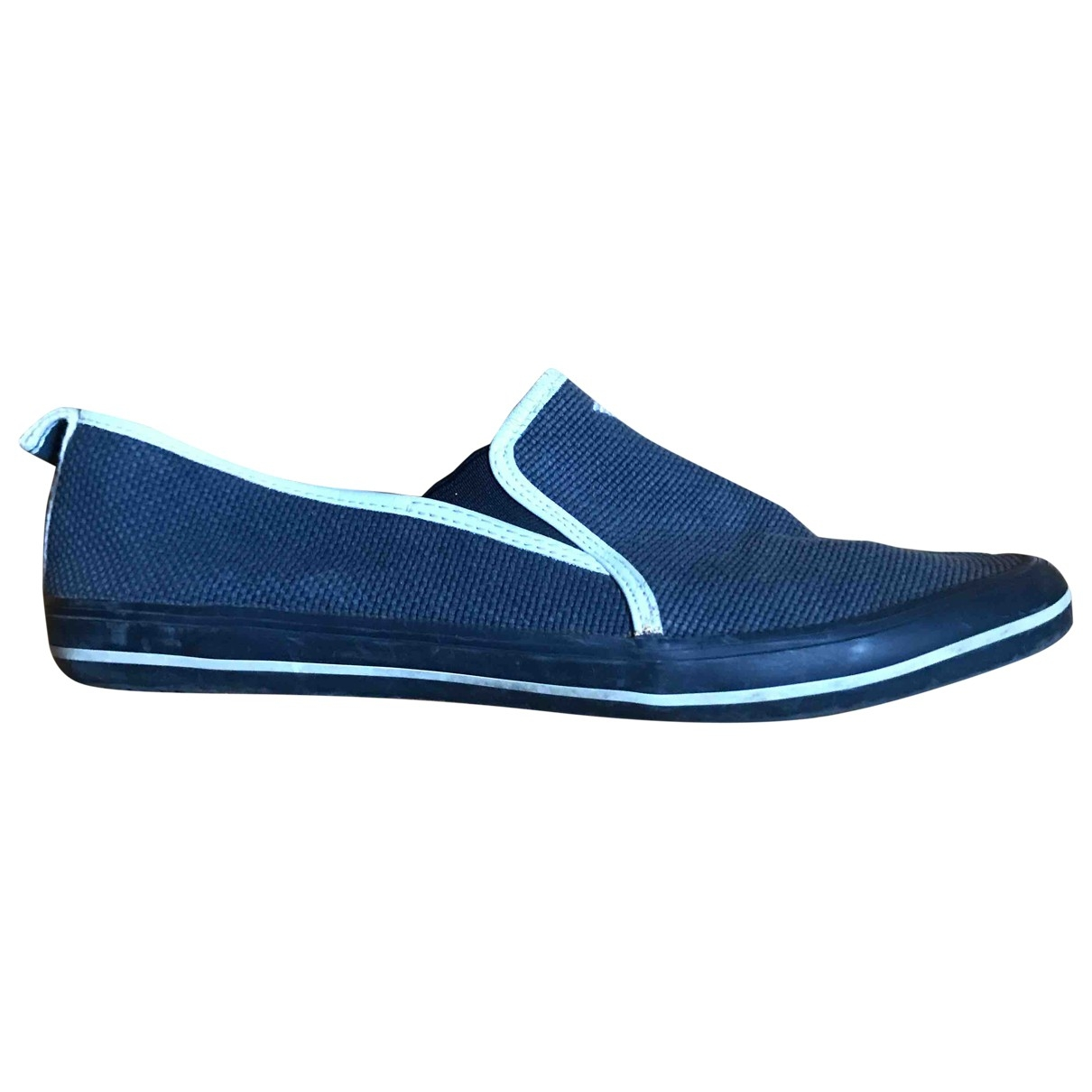 Armani Jeans \N Mokassins in  Blau Leinen