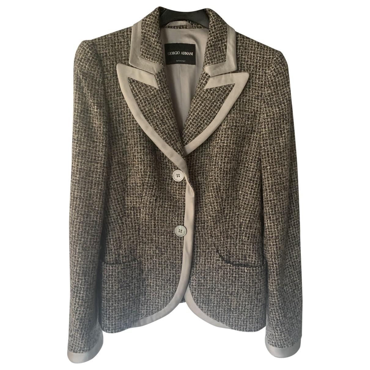Giorgio Armani - Veste   pour femme en cachemire - gris