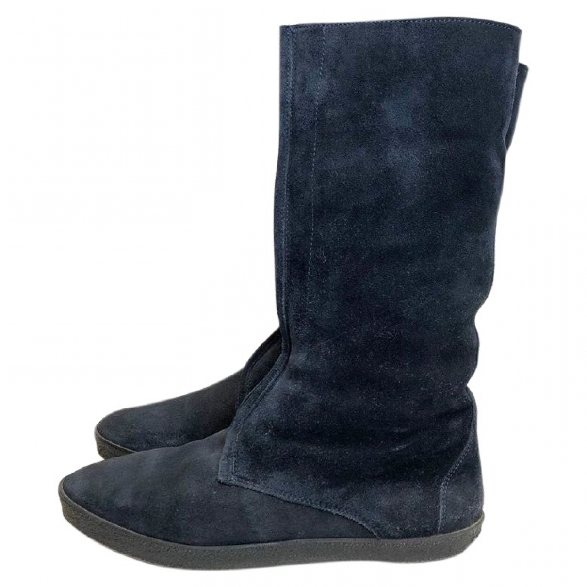 Burberry \N Navy Suede Boots for Women 38 EU