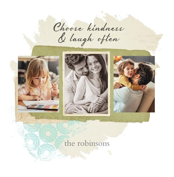 Family + Friends Shower Curtain, 69x68, Gift -Scrapbook Memories
