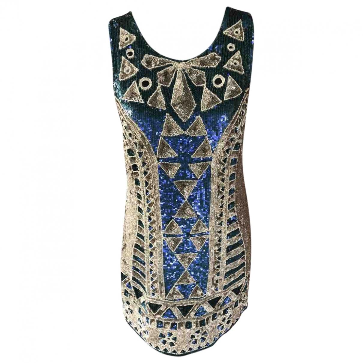 Needle & Thread \N Kleid in  Metallic Polyester