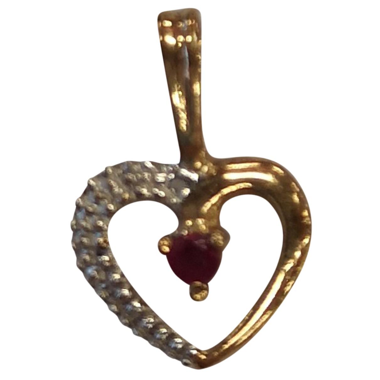 - Pendentif Motifs Coeurs pour femme en or jaune - jaune