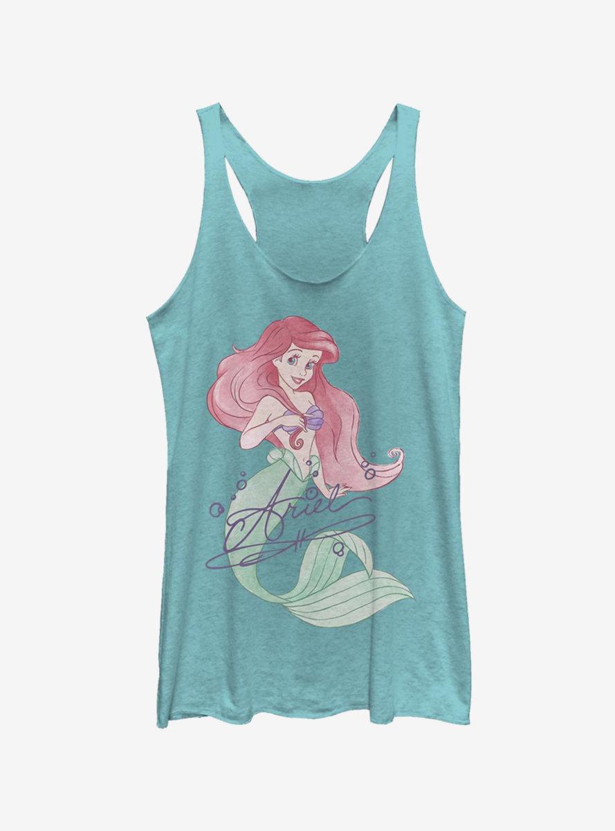 Disney The Little Mermaid Signed Ariel Womens Tank Top
