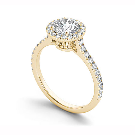 Womens 1 1/4 CT. T.W. Round White Diamond 14K Gold Engagement Ring, 8 1/2 , No Color Family