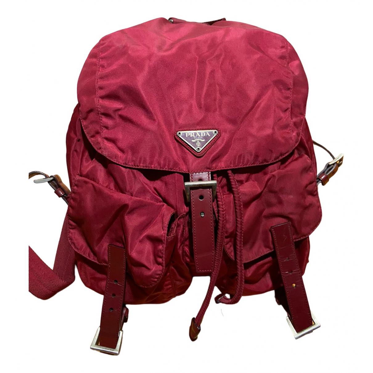 Prada N Red Cloth backpack for Women N