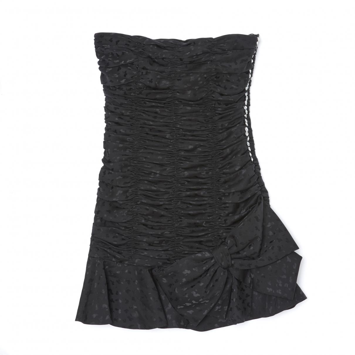 Azzaro N Black Silk dress for Women 36 FR