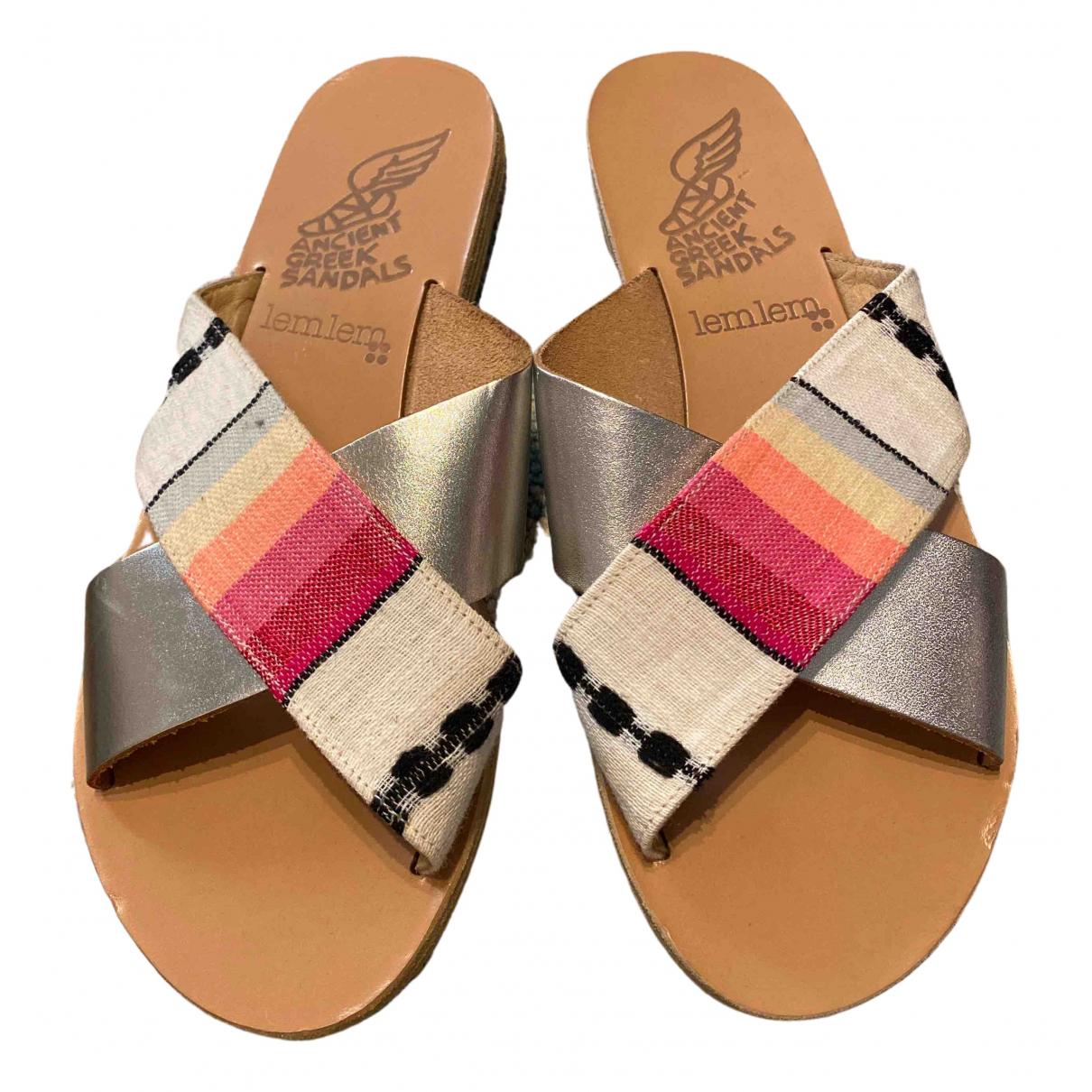 Ancient Greek Sandals \N Multicolour Leather Sandals for Women 37 EU