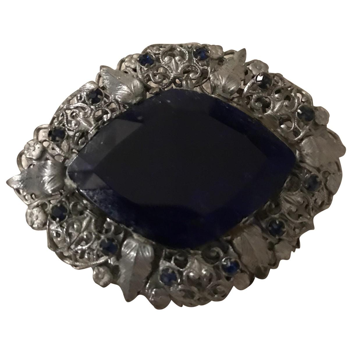 - Broche Art Deco pour femme en metal - argente