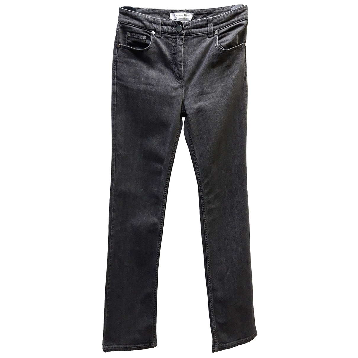 Christian Dior \N Anthracite Cotton - elasthane Jeans for Women 36 FR