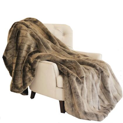 Mink Collection PBEZ1780-80x110T 80L x 110W Full Frost Dark Brown Faux Fur Luxury