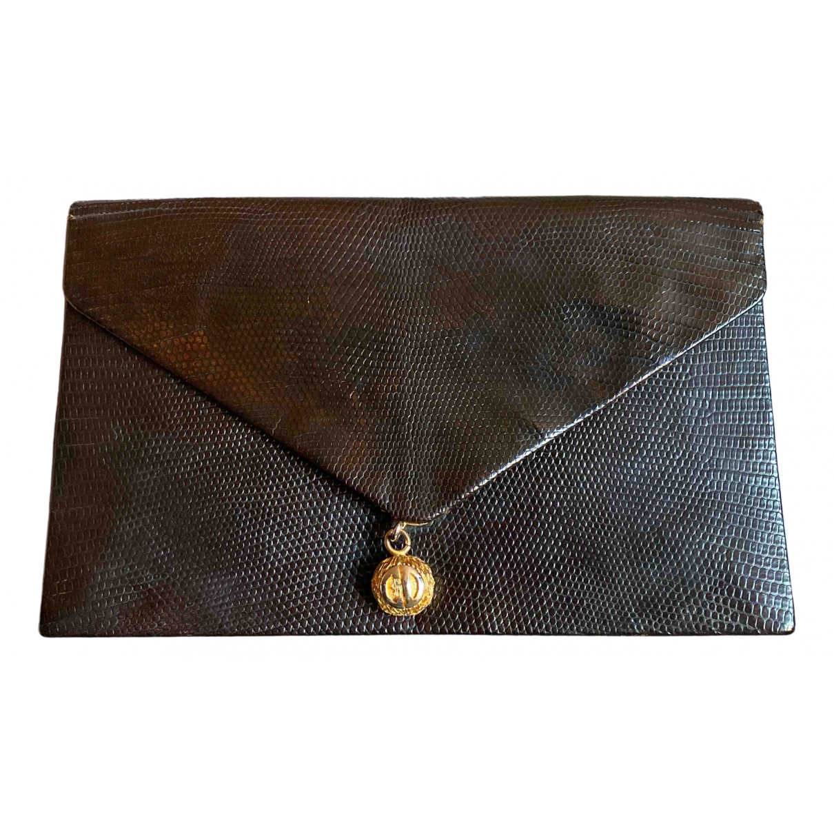 Dior N Brown Exotic leathers Clutch bag for Women N