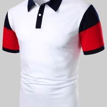 Men Color Block Polo Shirt