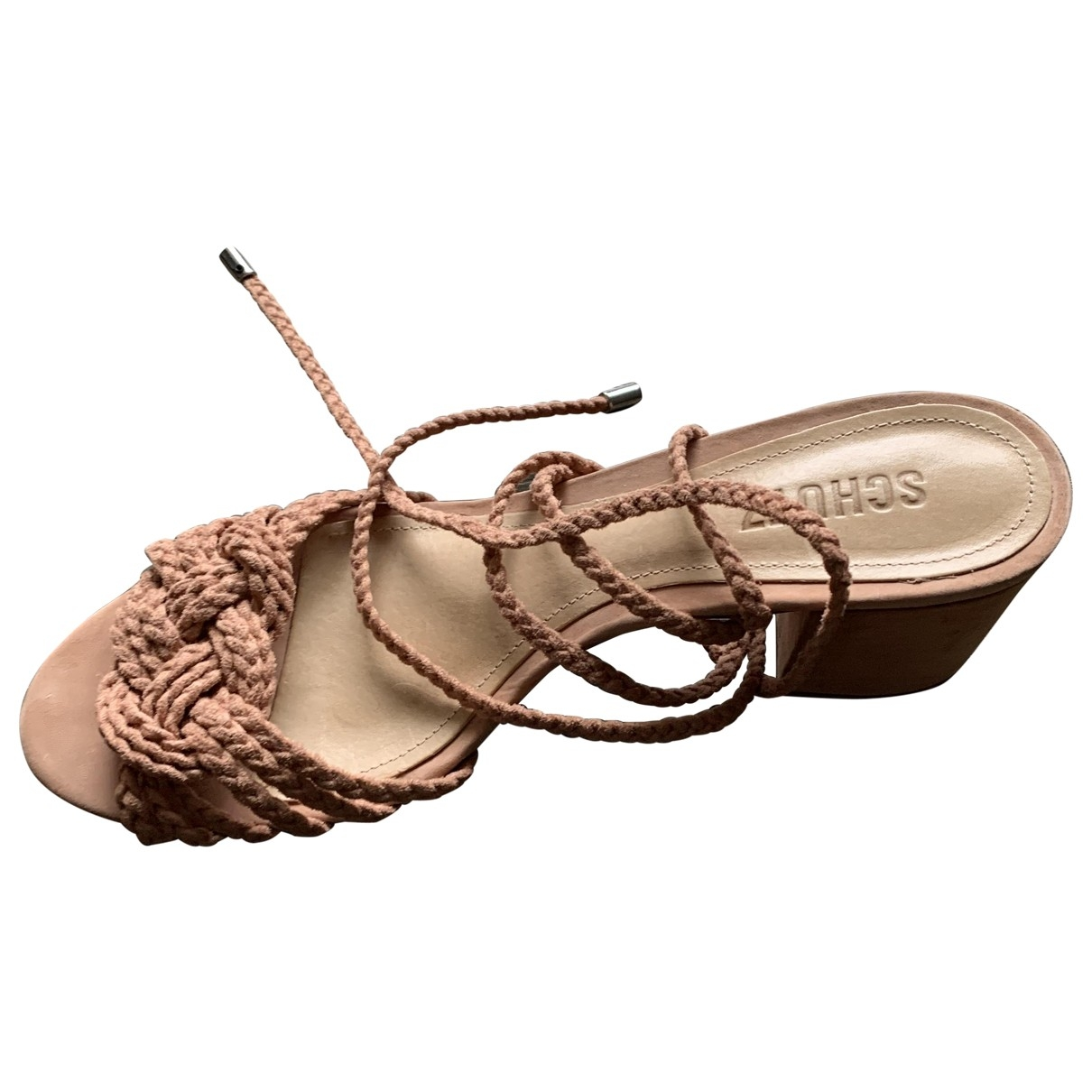 Schutz \N Beige Leather Sandals for Women 9 US