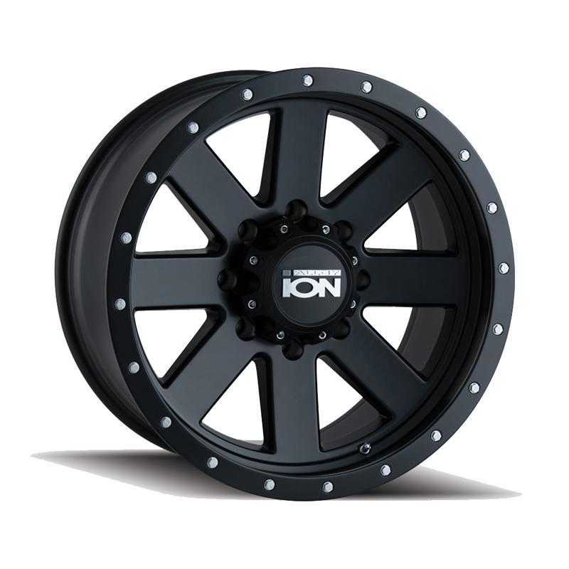 ION 134 Matte Black | Black Beadlock 18x9 8x165.1 0mm 130.8mm Wheel
