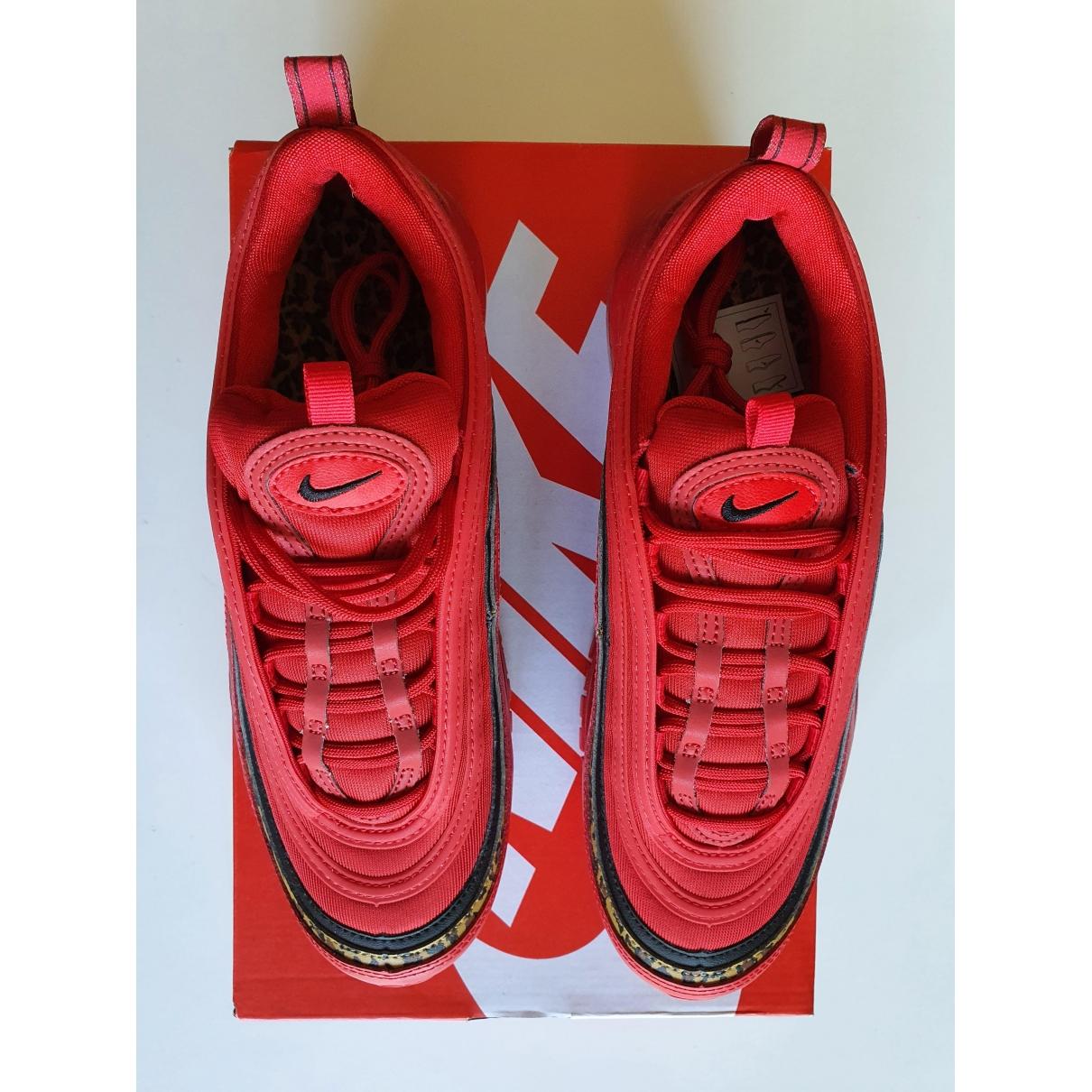 Nike - Baskets Air Max 97 pour femme en cuir - rouge