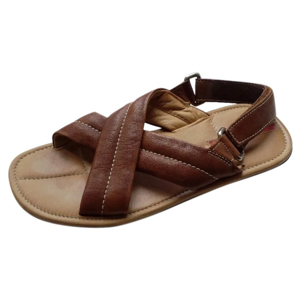 Prada \N Brown Leather Sandals for Men 41 EU
