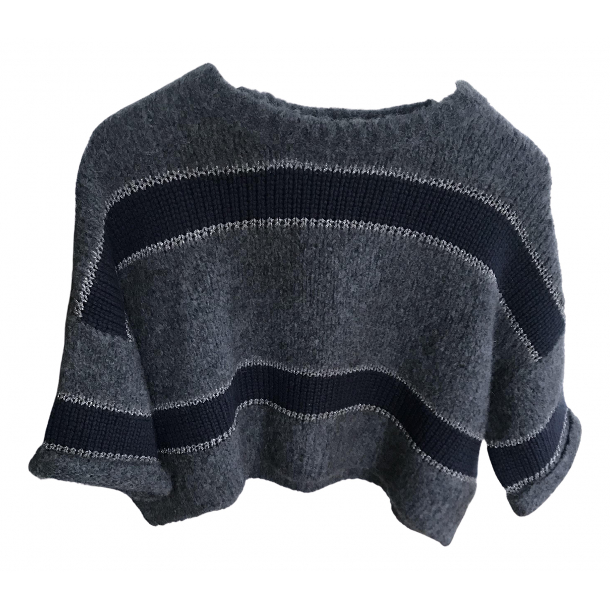 Brunello Cucinelli \N Pullover in  Blau Kaschmir