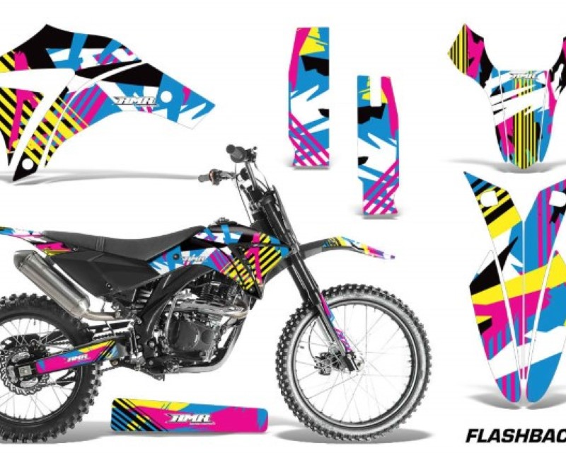 AMR Racing Dirt Bike Graphics Kit Decal Sticker Wrap For Apollo Orion 250RXáFLASHBACK