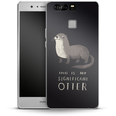 Huawei P9 Silikon Handyhuelle - This Is My Significant Otter von Louis Ros