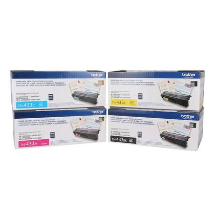 Brother TN433 Original Toner Cartridge Combo High Yield BK/C/M/Y