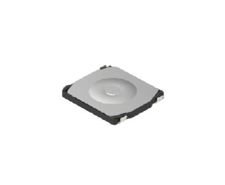Alps Alpine White Button Tactile Switch, Single Pole Single Throw (SPST) 50 mA Surface Mount (10)