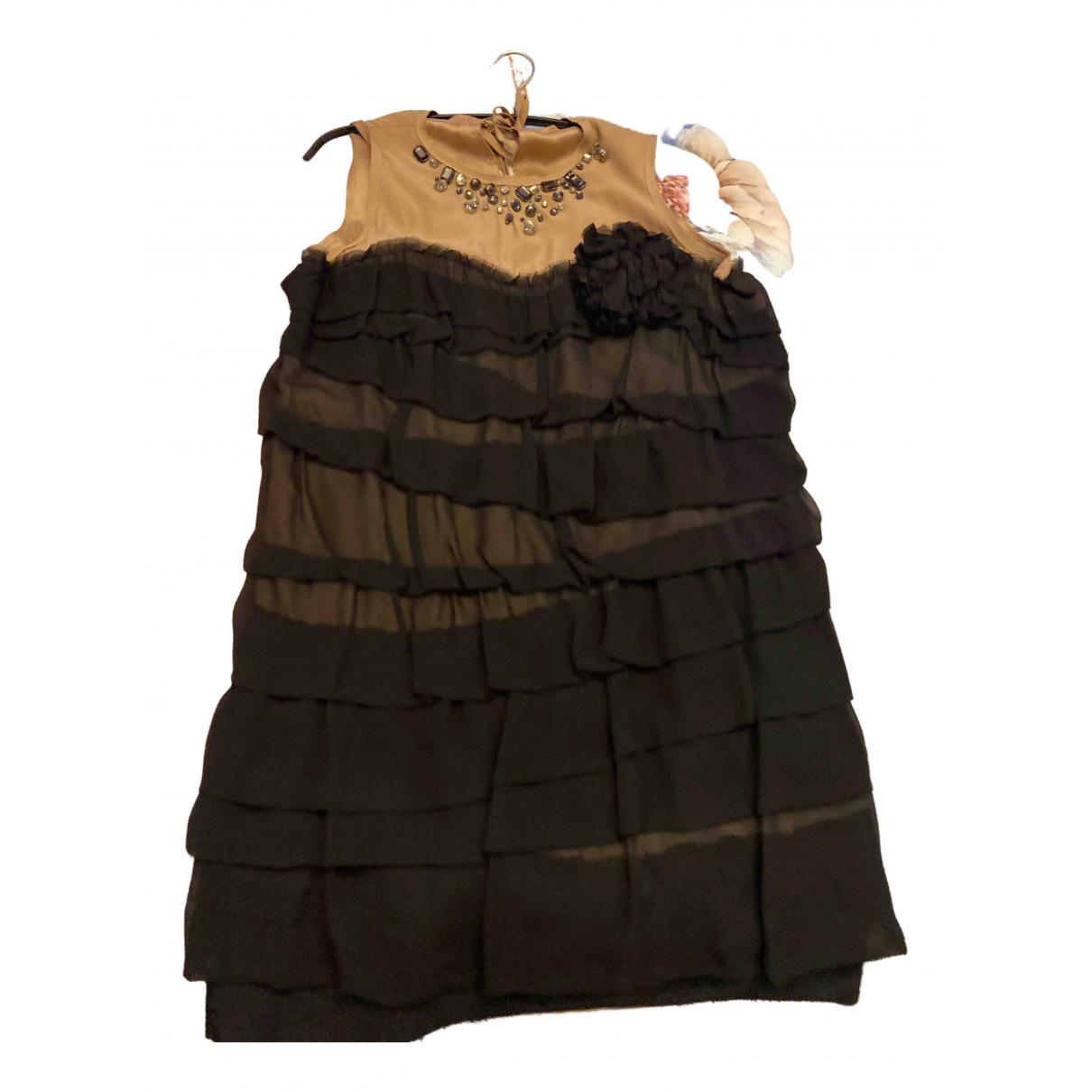 Lanvin For H&m \N Kleid in  Schwarz Seide