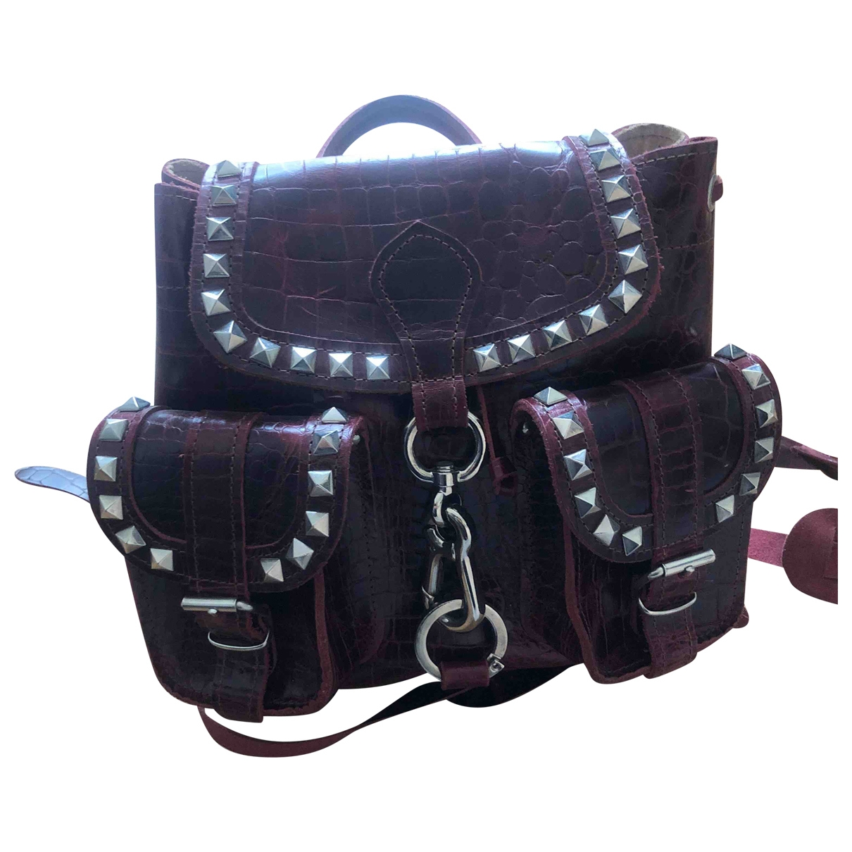 Grafea \N Red Leather backpack for Women \N