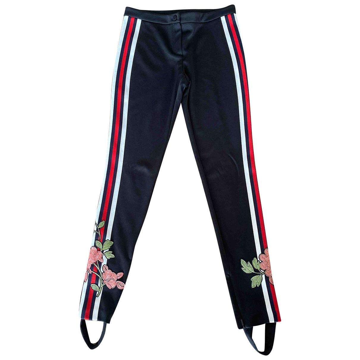Gucci \N Black Trousers for Women S International