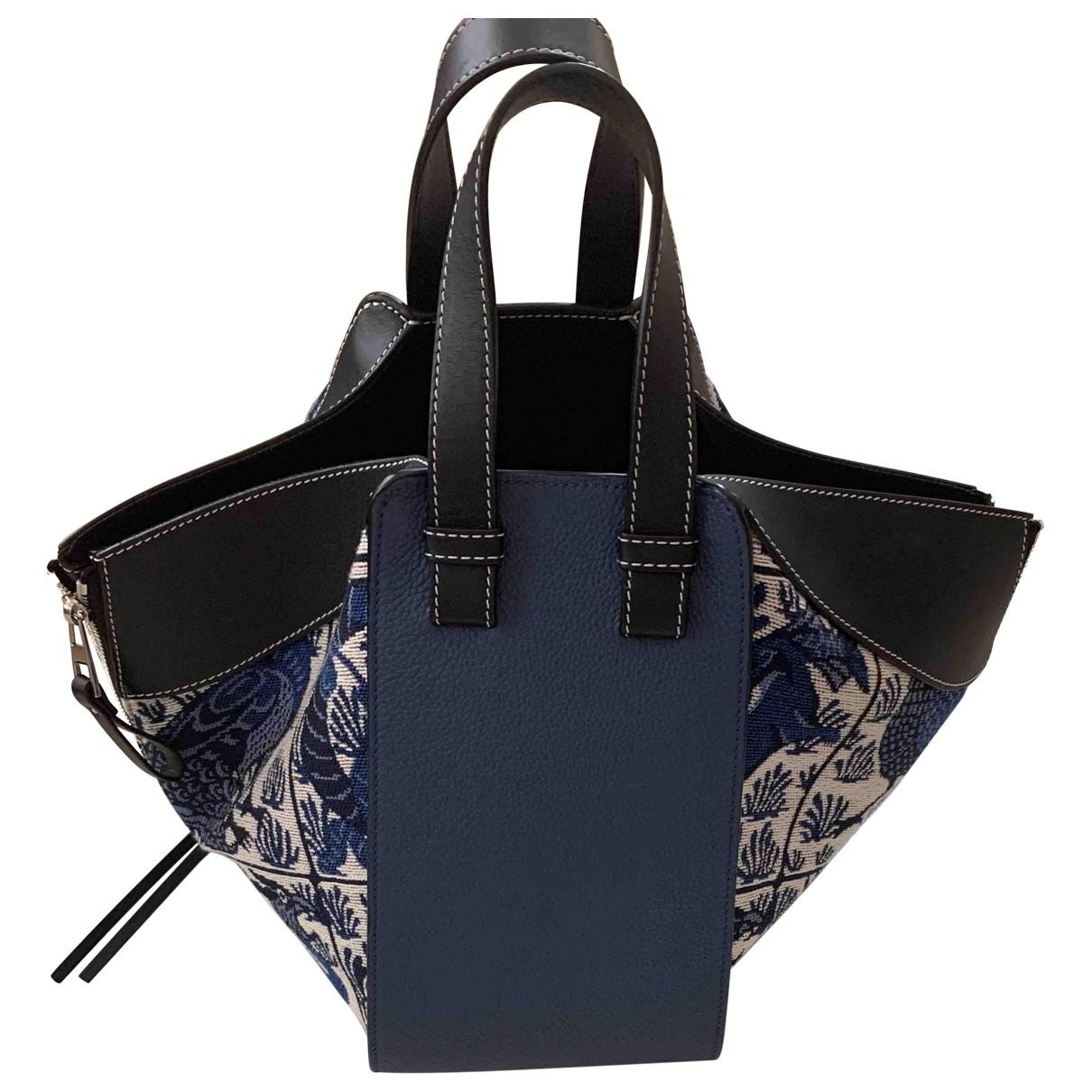 Loewe Hammock Blue Leather handbag for Women N