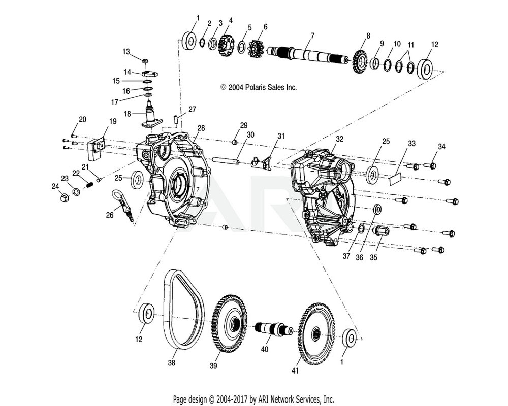 Polaris OEM 3233547 Bellcrank, HLR | (Used in 1341306)