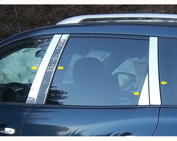 Quality Automotive Accessories 8-Piece Pillar Post Trim Kit with Triangle-Piece Nissan Pathfinder 2014