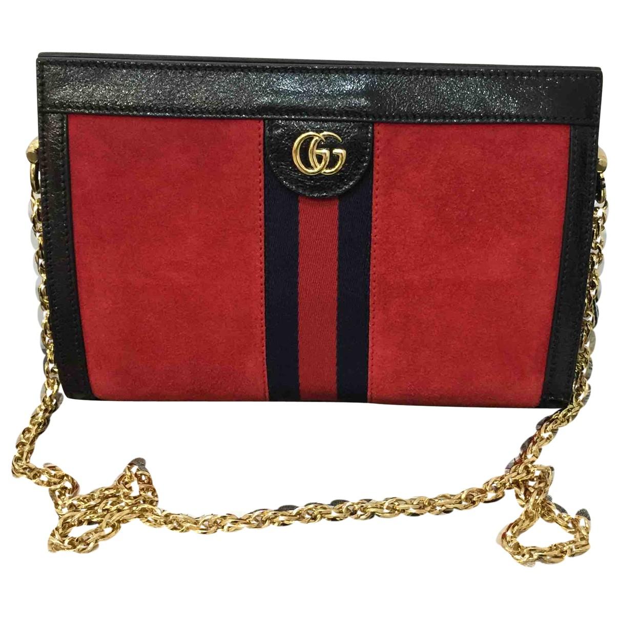 Gucci - Sac a main Ophidia pour femme en suede - rouge